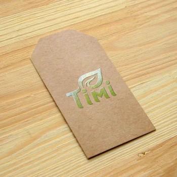 "Картонные этикетки на заказ ""Timi"" 8,8х4,2 см"