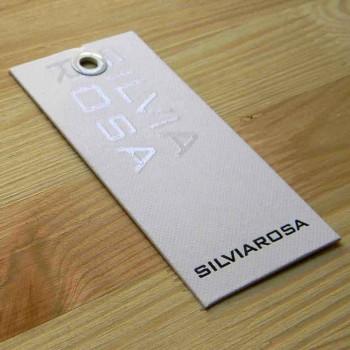 "Текстурная картонная бирка с люверсом ""Silvia Rosa"" 11х5 см"