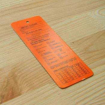 Этикетка картонная 12х4,5 см
