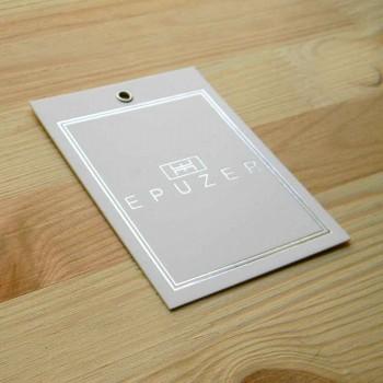 "Печатная этикетка с люверсом ""Epuzer"" 10,5х7,5 см"