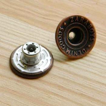 Кнопка металлическая с отверстием
