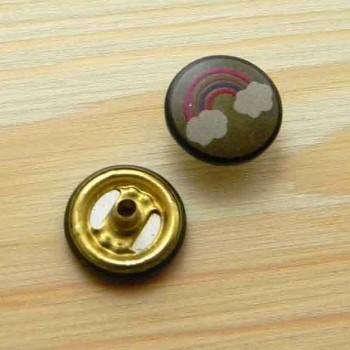 Кнопка крашеная с логотипом
