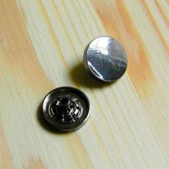 Кнопка металлическая, черный глянец