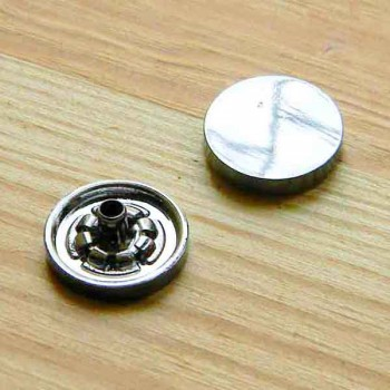 Кнопка металлическая, серебро