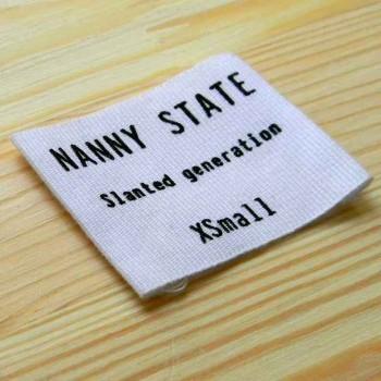 """Этикетка фактурная """"Nanny State"""" 6,5х4,5 см"""