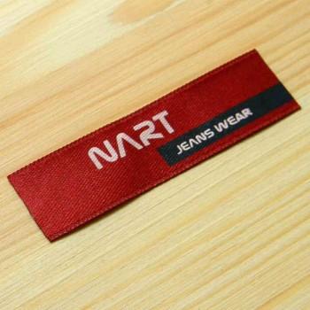 """Атласная этикетка для джинсовой одежды """"Nart"""" 7,5х2 см"""