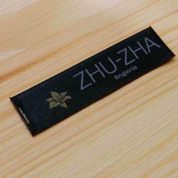 """Этикетка для белья """"Zhu-Zha"""" 6х1,5 см"""