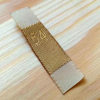 Жаккардовая этикетка-размерник с шелковой нитью 3,5х1 см