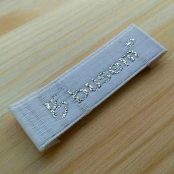 """Этикетки с серебристой люрексовой нитью """"Busem"""" 6х1,5 см"""
