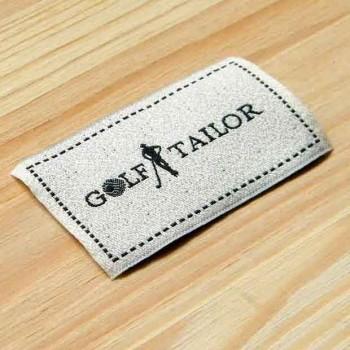 """Текстурированные бирки на одежду """"Golf Tailor"""" 5,5х3 см"""