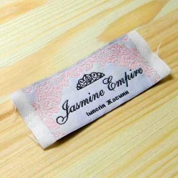"""Этикетки для вечерних платьев """"Jasmine"""" 7,5х3 см"""