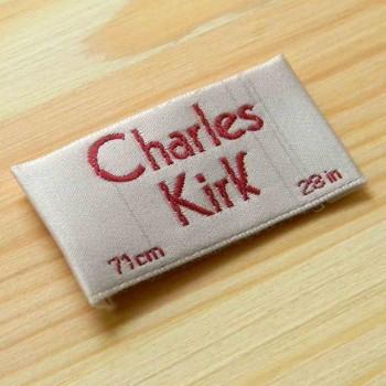 """Шелковые этикетки """"Charles Kirk"""" 6х2,5 см"""