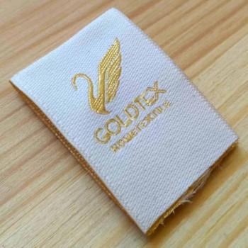 """Этикетки с шелковой нитью """"Goldtex"""" 8х2,7 см"""