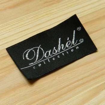 """Жаккардовая этикетка """"Dashel"""" люрекс, 6х3 см"""