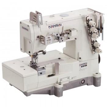 KANSAI SPECIAL WX 8803DW  Высокоскоростная 3-игольная 5-ниточная плоскошовная швейная машина