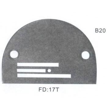 Игольная пластина B20 Ø2,0 мм  Универсальная