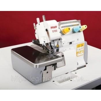 PFAFF  5742 02 х 250 - 2-х игольная  4-х ниточная стачивающая швейная машина, для окантовки лентой (бейкой) края изделия