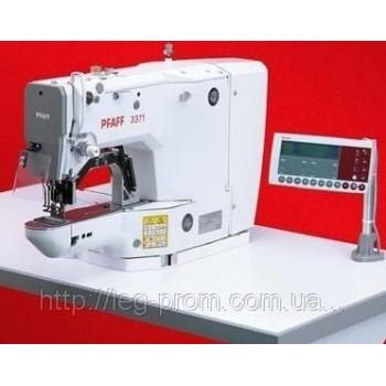 PFAFF 3371 - 10/01 - пуговичный полуавтомат с электронным управлением для пришивания различных плоских пуговиц