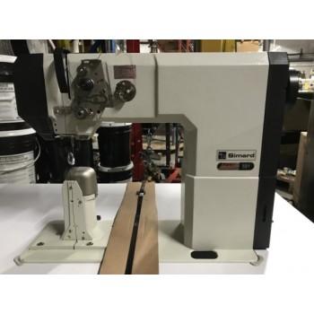 Pfaff 591 с колонковой платформой, нижним роликовым, игольным и приводным верхним роликовым двигателем ткани