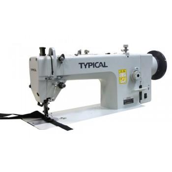 TYPICAL GC0617D Одноигольная швейная машина челночного стежка с унисонной подачей Тип тканиа, увеличенным челноком и встроенным сервоприводом