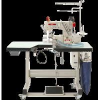 Промышленная распошивальная машина с автоматикой, цилиндрической рукавной платформой с правым ножом и вакуумным отсосом остатков обрезки Baoyu BML-787-R600
