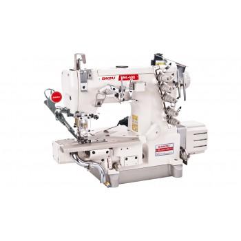 Промышленная распошивальная машина с автоматикой, цилиндрической рукавной платформой с левым ножом и вакуумным отсосом остатков обрезки Baoyu BML-600D-35ZD/UTD