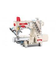 Промышленная распошивальная машина с автоматикой, цилиндрической рукавной платформой с левым ножом и вакуумным отсосом остатков обрезки Baoyu BML-787-N600-AST-DS/H (ADA)