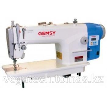 Gemsy GEM 88001 E-B одноигольная прямострочная машина с увеличенным челноком и встроенным сервоприводом
